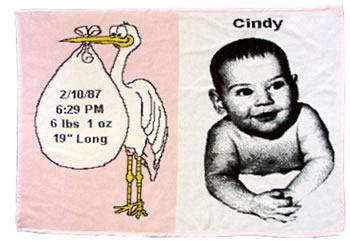 Stork Throw Girl